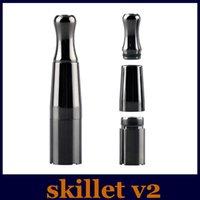 Skillet V2 Vaporisateur Puffco pro Double Quartz Rod Chambre en céramique Donut 2 Rouleaux Cire Dry herb atomiseur clone stylo à vapeur herbal e cigs