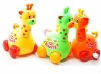 Wholesale New Kids Wind up Toys Cute Giraffe Puzzle Toys Clockwork Classic Running Animal Toys For Baby Children kids gift
