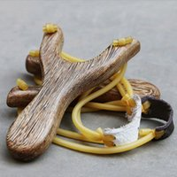Wholesale Wooden Slingshot Hunting with Rubber Handmade Nature Outdoor Game Toy