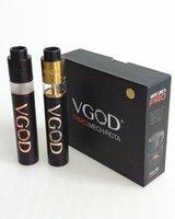 Wholesale VGOD Pro Mech Mod Kit mm Diameter vape mod Clone Large Vent Holes Connecttion with VGOD trick pro tank E cigarette Kits DHL Free