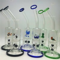 animal eagles - 2016 two functions glass water pipes cute animal funny green turtle colorful bong eagle frog Honeycomb dab oil Rig Bongs rigs heady beaker