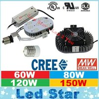 brushed nickel - DLC UL Retrofit Kits Led Light E40 E39 E27 E26 W W W W LED Street Lights CREE Chip MeanWell Driver AC V