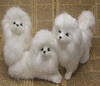 antique dog art - Chinese folk crafts holiday gifts static model simulation animal fur simulation crafts ornaments Poodle Dog plush toys simulation Pastoral c