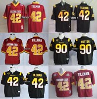 arizona state shorts - Men s NCAA Arizona State Sun Devils Will Sutton Pat Tillman Red Black jerseys Top Quality Drop Shipping Accept Mixed orders Whole