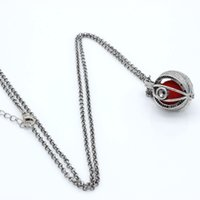 Wholesale Charms Antique Heart Eye Hollow Cage Locket Fragrance Essential Oil Aromatherapy Diffuser Pendant Necklace Womens Jewelry