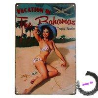 bahamas vacation - VACATION IN Bahamas Poster Vintage Metal Tin Signs Home Garage Wall Decor G69
