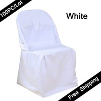 banquet seat covers - Shipping FREE PC wedding chair covers polyester Plain Universal folding dining chair covers of Wedding Banquet Party Chair Seat Covers