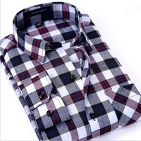 asian mens clothes - Hot Sale New Fashion Men Shirts Plaid Causal Shirt Long Sleeve Flannel High Quality Mens Clothes Asian Size S XL