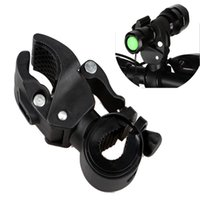 Wholesale 120g Bike Flashlight LED Torch Mount Clip Degree Rotation Cycling Clip Clamp Bicycle Light Holder