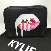 Wholesale 2017 Kylie jenner birthday makeup bag kylie lip kit bags make up bag Good quality Kylie A limited edition birthday cosmetic bag storage bag