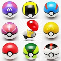 Wholesale Hot sale ABS Action Anime Figures Poke balls PokeBall Fairy Magic Ball Super Ball Master Ball Kids Toys Xmas Gift