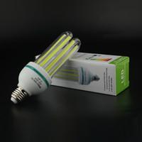 Wholesale NEW E27 LED lamp W U angle COB Ultra Bright LED Corn Bulb light Chandelie Corn Light Cool White lm AC85 v