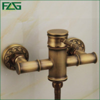 antique electric mixer - FLG Wall Mounted Antique Brass Bathroom Faucet Bathtub Tub Mixer Tap With Hand Shower Head Shower Faucet HS008