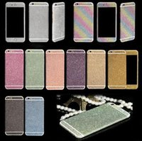 apple vinyl decal - Full Body Wrap Bling Decal Vinyl Glitter Sticker Skin Cover For iPhone plus s plus s s Galaxy S7 S7 Edge S6 S5 S4 Note Package
