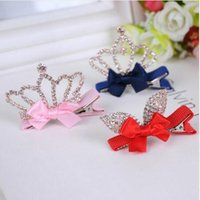 Wholesale 10pc Cute Style Baby Girls Children Shiny Diamond Crown Rhinestone Princess Hairpins Crystal Hair Clip