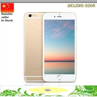 Wholesale 1 inch I6S Plus Quad Core MTK6582 G smartphone M G MP camera Show G GB Show fake G Lte GPS Android Smart Phone