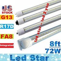 Wholesale CREE W Led Tube T8 ft FA8 Single Pin G13 R17D Integrated Double Sides smd2835 Led Light Tubes foot UL AC V