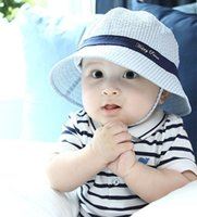 Wholesale South Korea design baby Girl Summer Hat Cotton Kids Cap Bucket Hat baby cotton hat and sun hat