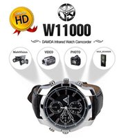 Wholesale Spy Watches Support - 1080P Spy Camera Camcorder Watch 16GB Hidden DVR IR Night Vision Waterproof Supports IR camera Freeshipping