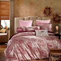 Wholesale High Grade Silk Satin Jacquard four piece of classic European Wind double bed linen sheet four Piece siut Bedding