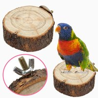 Wholesale Natural Burlywood Round Pet Bird Parrot Hamster Leisure Swinging Stand Cage Stump Stub Perches Platform Hanging Toy Home Decor