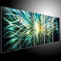Wholesale oil painting art original arts home decor metal painnting wall modern abstract art
