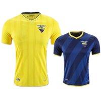 Wholesale Stock ultimas calidad Superior de Tailandia puede personalizar euro Jersey Ecuador Ecuador de futbol Amarillo