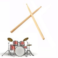 Wholesale Maple Wooden A Drumstick Drum Lightweight Hammer Jazz Drum Stick Bulging Bar For Drums Electronic Drum Snare Drum cm