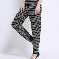 Wholesale HOt women casual pants Strip Trousers Bunch Foot Haroun Pants Sports Loungewear big size XL XL