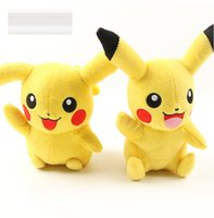 animal toys - EMS Pikachu Plush dolls cm inch Poke plush toys cartoon poke Stuffed animals toys soft Christmas toys best Gifts E1196