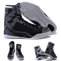 Cheap (With shoes Box) Kobe 9 IX Bryant Elite High BHM Black History Month Blackout 704304-010 Men KB Boots Shoes