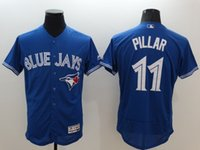 Wholesale 2016 New Blue Jays Baseball FLEXBASE Jerseys Men Kevin Pillar Blue stitched Athletic jersey Mix Order High Quality