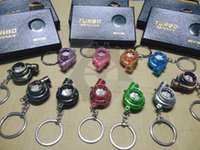 automotive turbine - Spinning Turbo Keychain Hot Sale Automotive Car Part Model Turbine Turbocharger Sleeve Bearing Key Chain Ring Keyring Keyfob