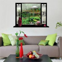 art holiday packages - 3D View Window Natural Landscape Holiday Scenery Home Décor Removable Wall Sticker Decal Mural Art x70cm