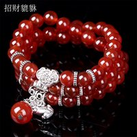 beaded wild animals - Pure natural onyx the mythical wild animal purse bracelet adorn article Ms taobao sell like hot cakes retro male hand string bracelet