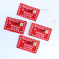 Wholesale The Christmas tree to hang Christmas non woven envelope Can pack candy Christmas CARDS The embroidery craft