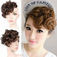 Wholesale Fashion Fringe Bangs Curls Hair Extensions pear retro involution Hairpiece Ladies CLIP hair Extensions L04707