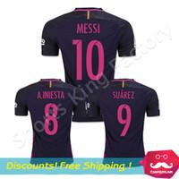 wholesale soccer jerseys - DHL free send Soccer Jerseys Purple football shirts Neymar SUAREZ INESTA ARDA TURAN Messi JERSEYS red blue Camiseta de futbol