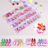 Wholesale 4pcs Girls Barrettes Kids Korean love bowknot Children baby Hair Accessories Hair Tie Girl Hair Clips Childrens Accessories mixed color