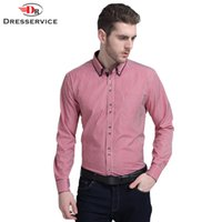 bamboo dress shirts men - DRESSERVICE Fashion New Men Shirt Striped Formal Dress Shirt Long Sleeve Mens Brand Casual Shirts Male Clothing Buat CM