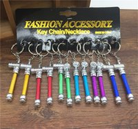 alluminum pipe - alluminum mini smoking pipe key China ultra small portable vaporizer shisha mouth tips pipe cleaners