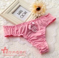 Cheap intimo donna sexy hot lingerie Underwear Women Sexy Panties Thongs And G Strings silk Female Sexy Lingerie Panty bragas de mujer