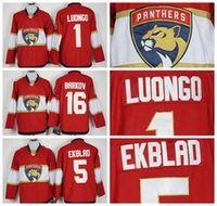 aaron hockey - 2016 Florida Panthers Jaromir Jagr Ice Hockey Jerseys Cheap Roberto Luongo Aleksander Barkov Aaron Ekblad Red Best Quality