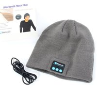 Wholesale New Warm Beanie Hat Wireless Bluetooth Smart Cap Headphone Headset Speaker Mic
