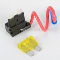 Wholesale ATO ATC Add A Circuit Fuse Tap Piggy Back Standard Blade Fuse Holder V M00049 CARD
