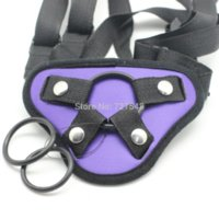 Cheap Purple satin strap onAccessories , Sex Toys For Woman Gag Big Dildo Strapon Strap On Pants Can Fit for Different Size Penis