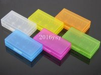 Wholesale Battery Storage Box For CR123A Colorful Hard Plastic Transparent Case Boxes Battery Holder