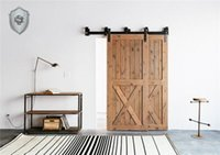 Wholesale NEW Foot ft Bypass sliding barn wood closet door rustic hardware track kit