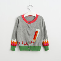 fashion autumn sweater - New Kids Girls Knitted Pencel Knitted Cardigan Sweater Jackets Western Fashion Sweet Kids Fall Winter Outwears