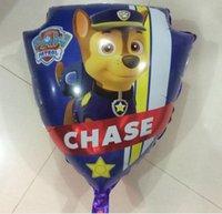 aluminium s - New large dog patrol aluminum balloon cartoon style dog balloon children s toys aluminum film balloon